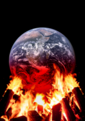 Earth Burning With Global Warming